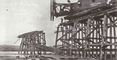 Railroad Bridge Repair Canadian Texas 1923