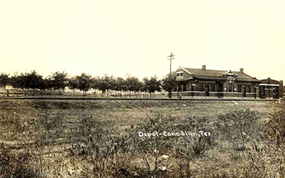 Canadian Texas Depot Historical View